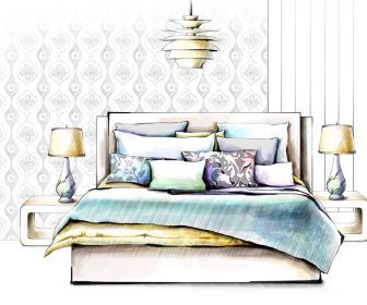 Design Interior Furniture Drawings HD Wallpaper Architecture DrawingInterior RenderingInterior SketchBedroom