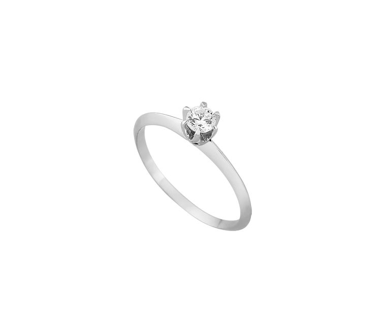 engagement gold ring in 14K