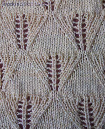 Rhombuses knitting stitches