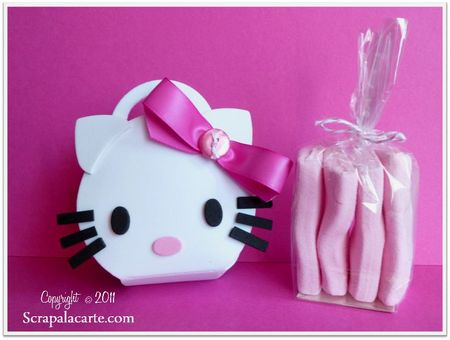 Scrap à la Carte - Hello Kitty avec le die Ballotin rond