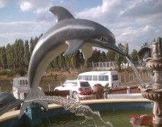 Great Dolphin Fish Statue
