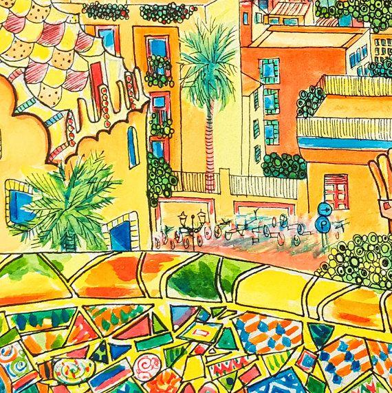 Bonjour ! Je suis Natasha – une artiste britannique et l'illustrateur vivant à Grenade. Ma spécialité est création ludiques paysages, scènes de ville et urbains, souvent de la vie, parfois de mon imagination. J'aime l'idée des structures naturelles et artificielles de notre monde étant en jeu, de la nature et de toutes choses qui rebondit sur l'autre, se bousculent pour l'espace dans un jeu de « tag, vous êtes il! » dans une ville bondée ou tranquillement s'étendant à travers la campagne…