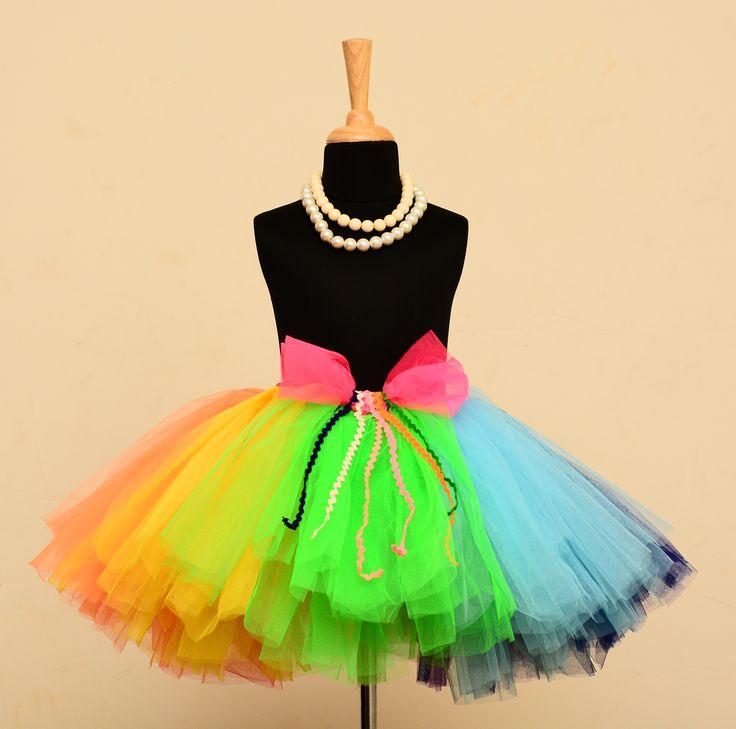 Rainbow Tutu Skirt. #babygirls #stylemylo #onlineshopping #tutu #kidsfashion #kids #partywear #designearwear