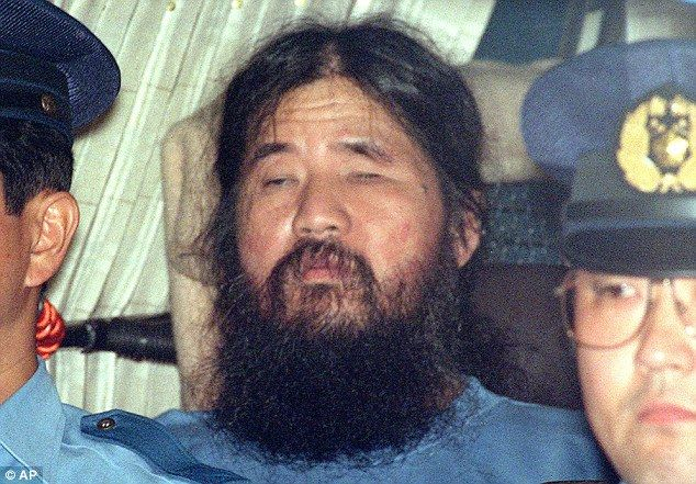Shoko Asahara- leader of the Aum Shinrikyo cult, responsible for the sarin gas nerve attack in 1995 which killed 13 people and injured more than 6,000.