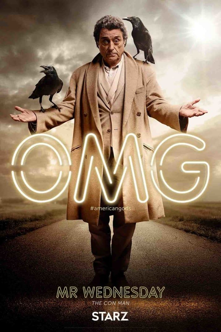 American Gods    Finally, Coming Soon has character posters for all your favorite Gods. See the rest, here.