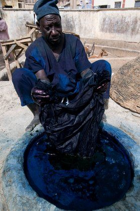 Africa   At the indigo dye pits, over 500 years old. Kano, Kano State, Nigeria   ©Mark Shenley