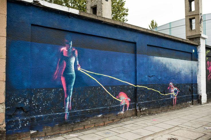 Poznan Poland, mural na ul. Roboczej [fot. A. Ziarnecki]