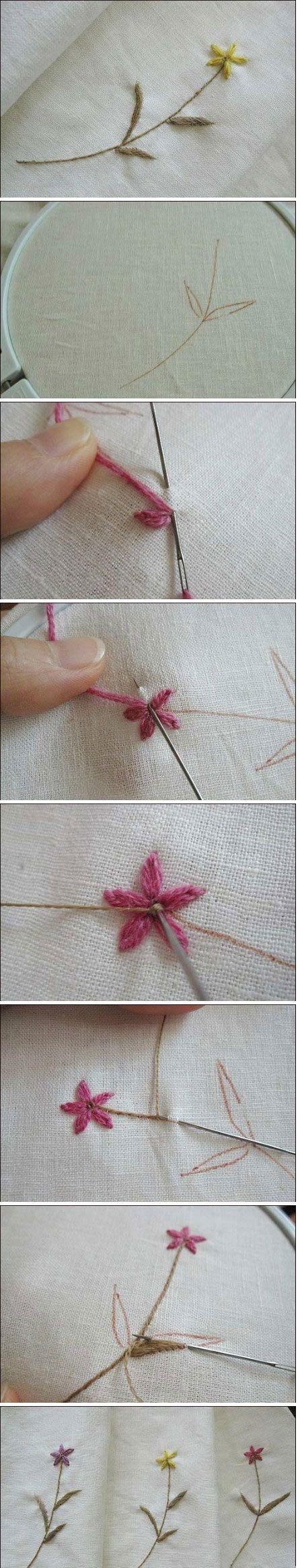 Embroider A Flower Diy