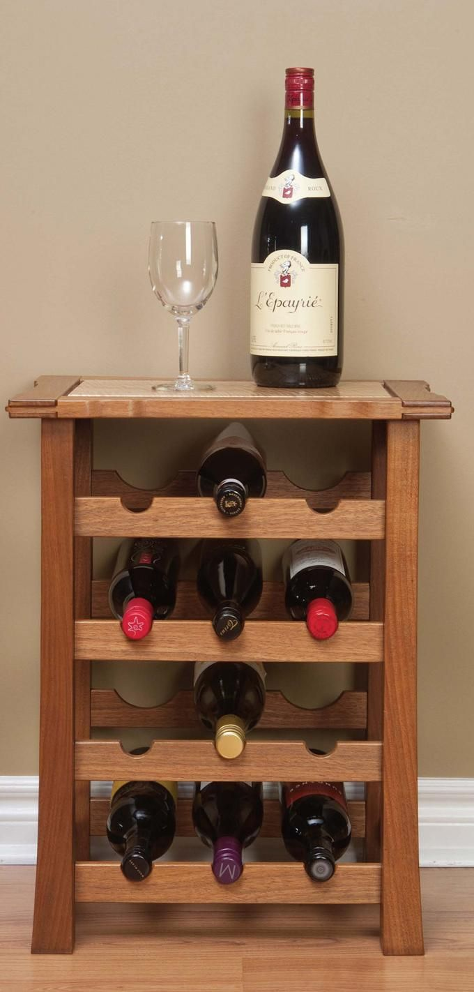 <strong>Display Project:</strong> This wine rack is great for a smaller home or a room that's in need of another small surface for storage or serving. It's also imperative that its owner loves wine, because it's made to be used. Cheers!<br />