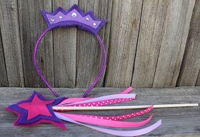 Portal de Manualidades: Cetro de princesa y coronita de fieltro