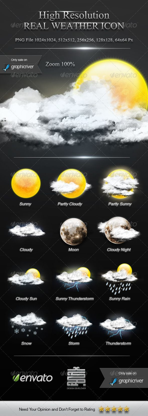 High Resolution Weather Icon — Photoshop PSD #awesome #weather forecast • Available here → https://graphicriver.net/item/high-resolution-weather-icon/2678649?ref=pxcr