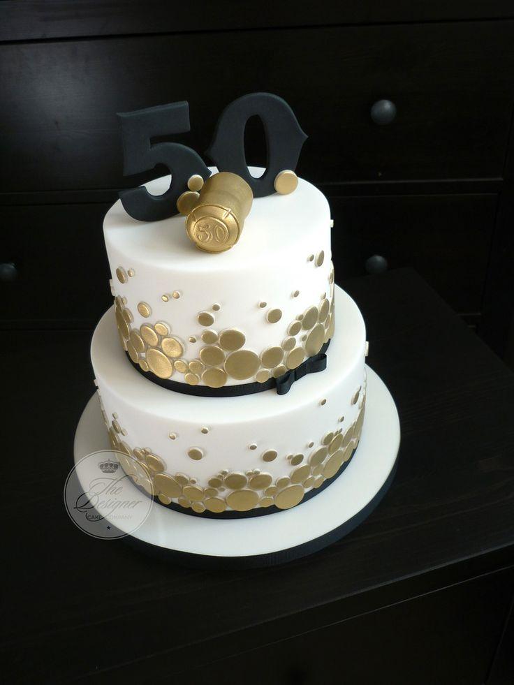 Champagne themed 50th birthday cake 40th birthday cakes