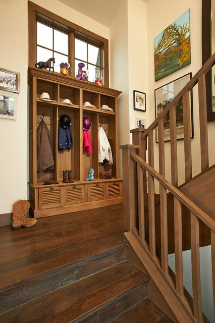 entryway hall tree Staircase Rustic with architecture aspen Coat Hook coat rack design gallery walls
