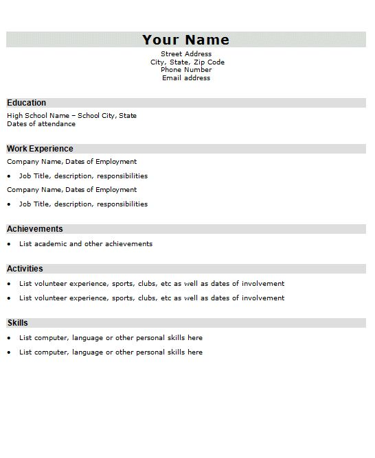 The 25+ best Best resume format ideas on Pinterest Best cv - high school education on resume