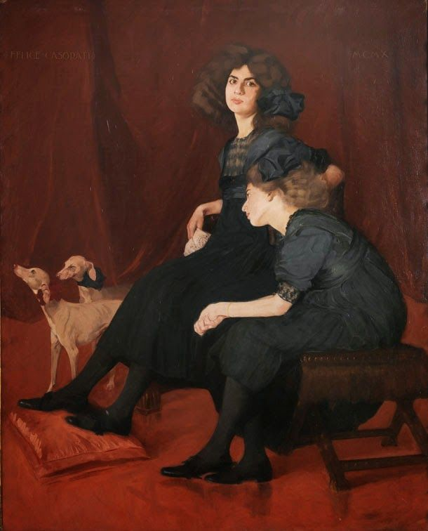 Le ereditiere Felice Casorati 1910
