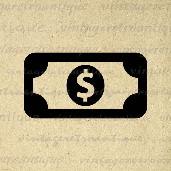 Printable Money Icon Image Graphic Dollar Bill Illustration