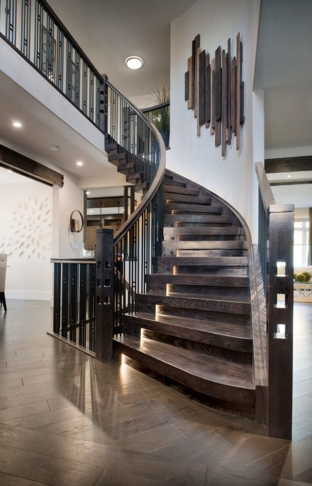 112 best stair envy images on pinterest stairs for Round staircase designs interior