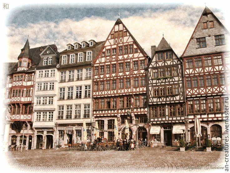 Купить Винтажные изображения. Франкфурт. - город, винтаж, архитектура, цифровое изображение, фотография, фотокартина, картина