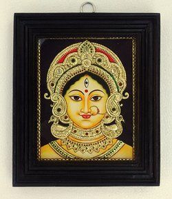 Making of Tanjore Paintings - Durga (Bengal Style) - Step by step illustration   Chola Impressions - Exquisite Tanjore Paintings, Indian Handicrafts & more
