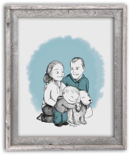 Illustration Bougribouillons - Portrait famille