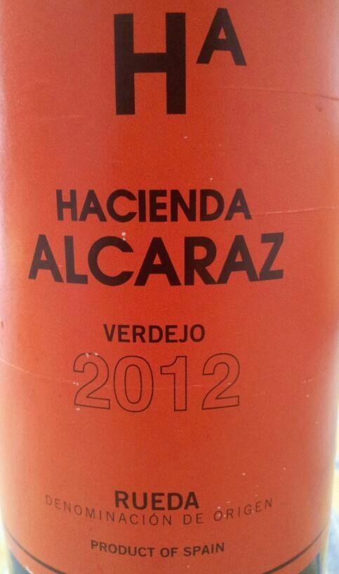 Vino Verdejo Año 2012 D.O. Rueda Hacienda Alcaraz Producto de España