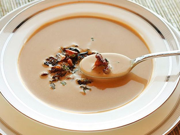 Creamy Chanterelle Soup.  So good and perfect. Rich, yet bright and full of unadulterated chanterelle flavor.
