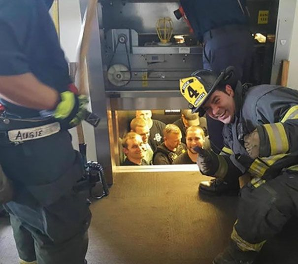 Kansas City Fire Department Saves Kansas City Police Department From Elevator