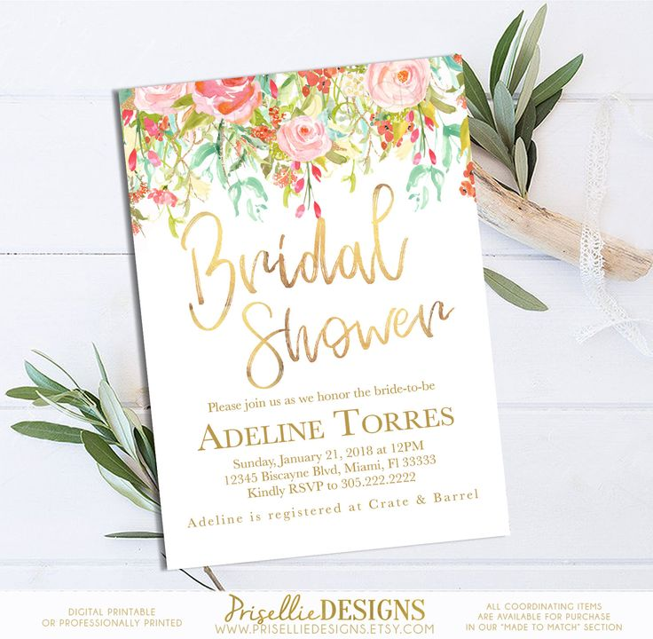 39 best Bridal Shower Invitations PrisellieDesigns on Etsy images