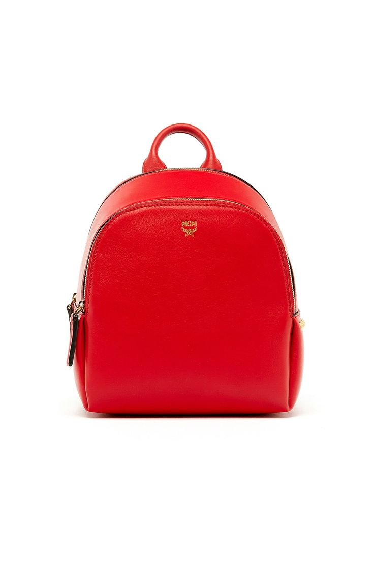 Buy Now: Best Colourful Bags - red MCM backpack