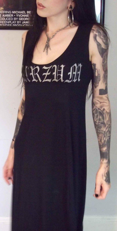 Burzum Girls Black Metal Maxi Dress. 160.00, via Etsy.