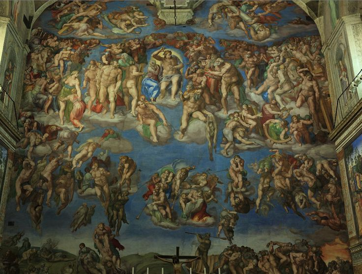 Sistine Chapel rear wall - The Last Judgement