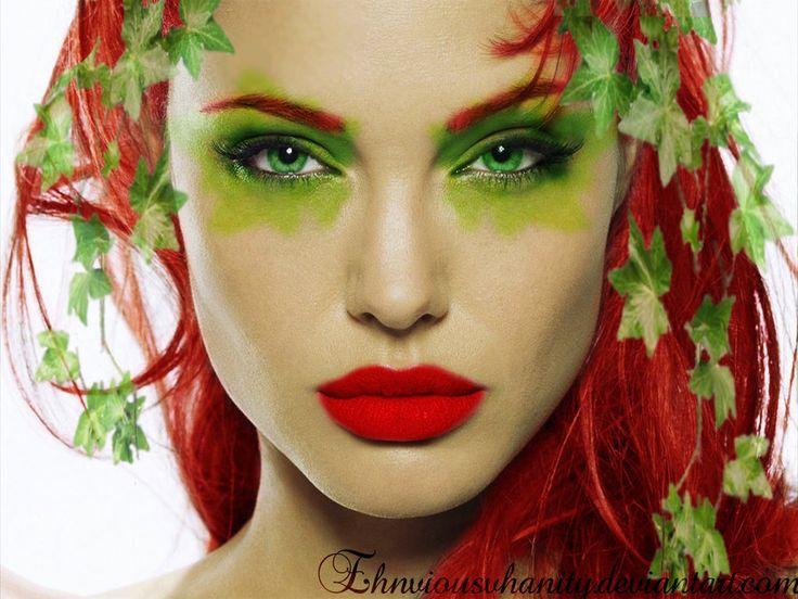 poison ivy batman makeup   Angelina Jolie as Poison Ivy by ~EhnviousVhanity on deviantART