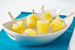 Pina Colada Pops. A great summer alcoholic popsicle :D