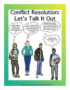 This mini-workbook is composed of 4 different activities. It will assist your students to identify their conflicts, the styles they used in handling these conflicts, as well as they will be given the chance to assess their present conflicts and if the resolution skills they used are effective.
