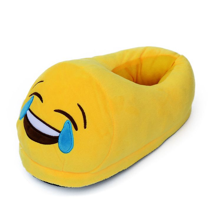 Emoji Slippers Women Men Cartoon Plush Home Slippers Cute Style Fashion Winter House Indoor Shoes