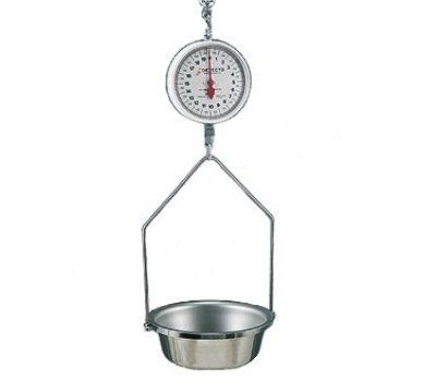 Detecto MCS 20DF Hanging Double Dial Fish U0026 Vegetable Scale W/ 14.5 In