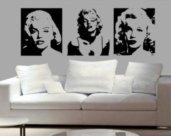 Of Marilyn Monroe Sexy Decal Living Room Bed Room Dining Room Decal Wall  Mural Home Decor Decal Vinyl Sticker Part 45