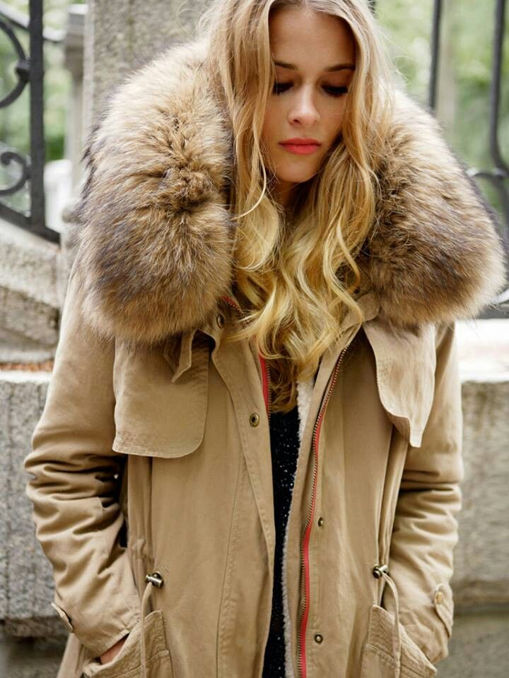Parka Jacket With Fur - Coat Nj