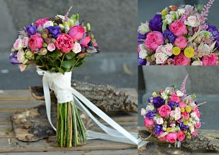 Flowers Garden, passion for colours: Buchet mireasa cu trandafiri piano si minoze
