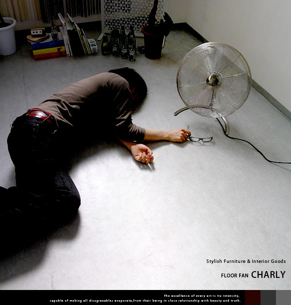 デザイン扇風機 CHARLY FAN(チャーリーファン)Lサイズ http://www.j-pulse.jp/shop/shopdetail.html?brandcode=012010000010