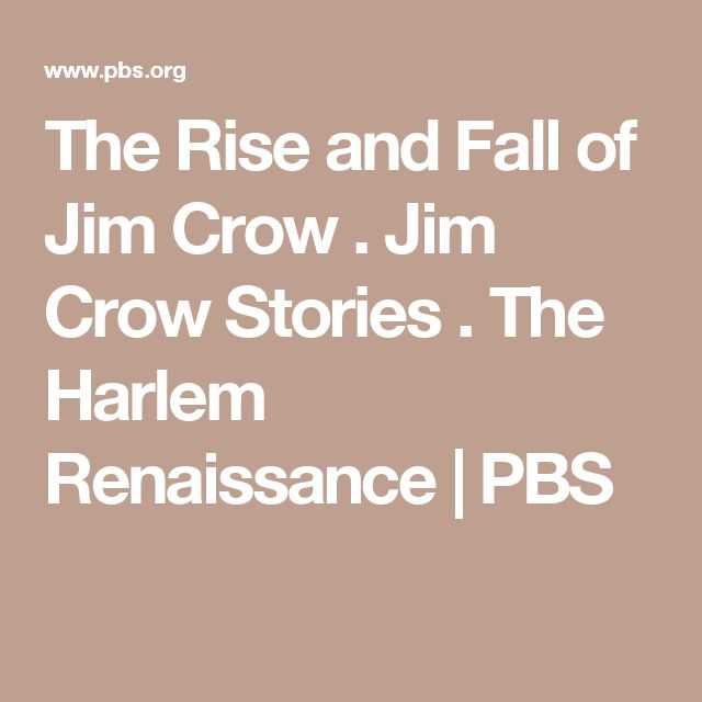 Rise and Fall of Jim Crow: Jim Crow Stories
