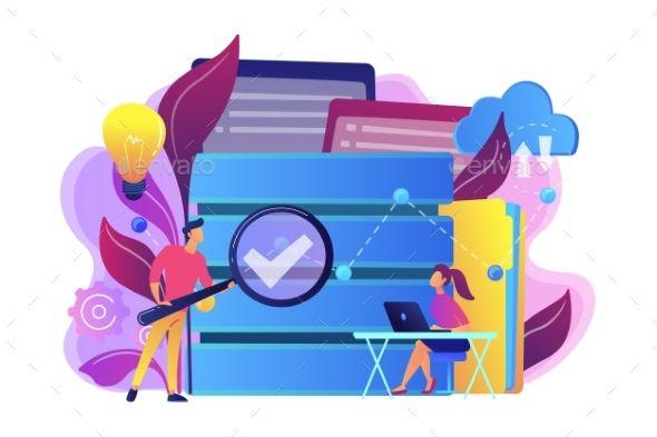 Big Data Analytics Concept Vector Illustration Analytics Data