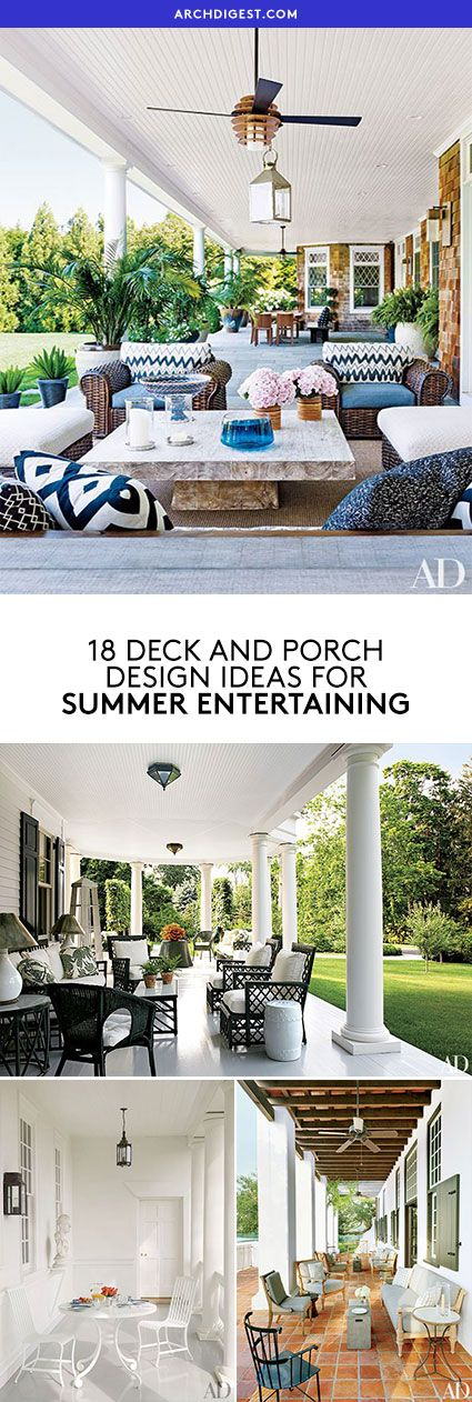 Deck and Porch Inspiration For Summer Entertaining   archdigest.com