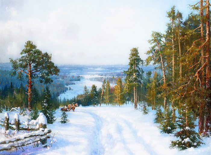 зимние пейзажи Владимира Жданова – 18