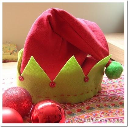 gorro-de-elfo   para niña disfrazcasero.com