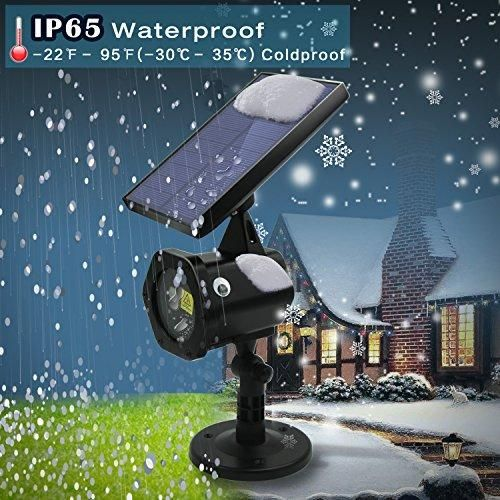 Star Shower Laser Lights - New 2017 Solar Christmas Lights Red Green Dancing Lights Waterproof Outdoor Laser Lights Projector with for Holiday, Party, Wedding, Disco