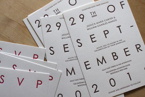 Custom Letterpress Wedding Invitations by Moontree Letterpress | Oh So Beautiful Paper