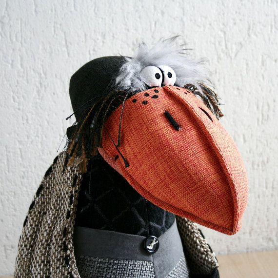 amazing work - like the top stitching to get the ridged seams on the beak.