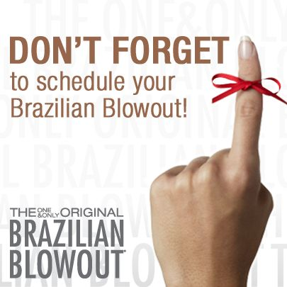 Don't forget to schedule your Brazilian Blowout.  The Brazilian Blowout is an amazing straightener, smoother, split end mender -- come see us!   Schedule with one of the stylists at Salons at Stone Gate in Cypress/NW Houston ~ (281) 256-2204 ~www.salonsatstonegate.com #brazilianblowout #hairstraightener #hairsmoother