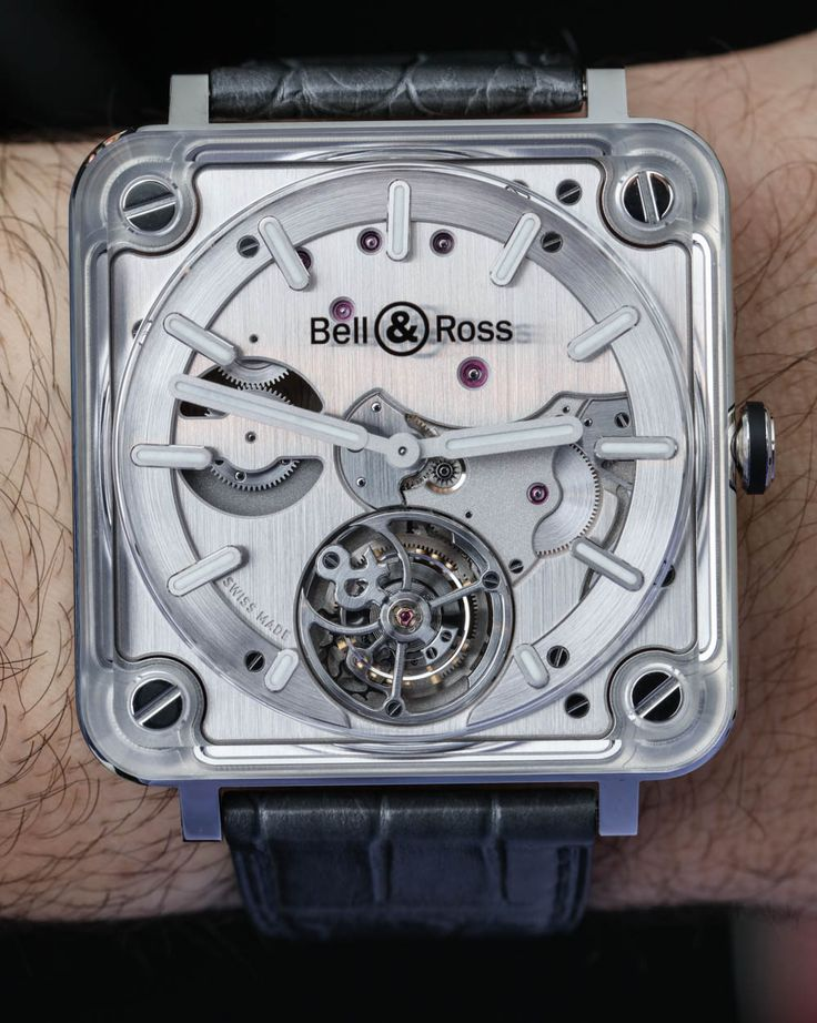 We go Hands-On with the new and Bell & Ross BR X2 Tourbillon Micro-Rotor Automatic. 42.5mm-wide square case and thin profile, the design is really striking and you can enjoy the movement from all angles. Discover: http://www.ablogtowatch.com/bell-ross-br-x2-tourbillon-micro-rotor-automatic-watch/
